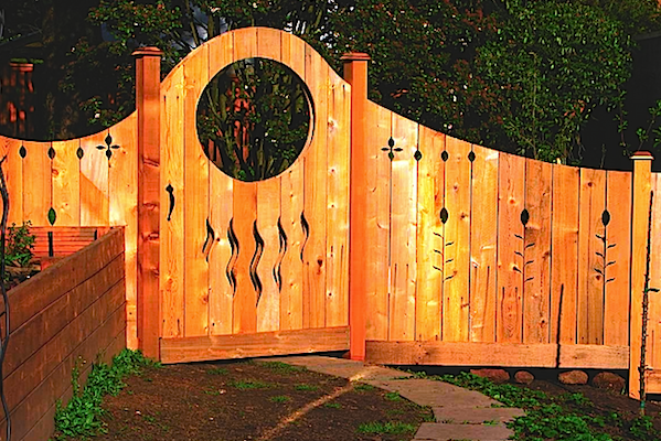 Orange Garden Gate Idea For Healing Garden