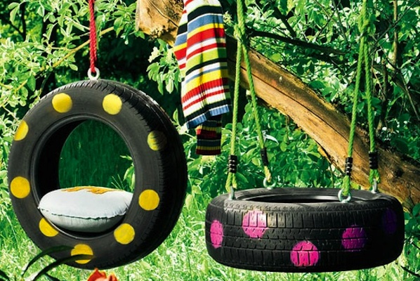 Tire Swing For Healing Garden