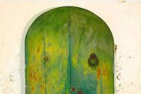 Yellow Chalk Paint Garden Gate