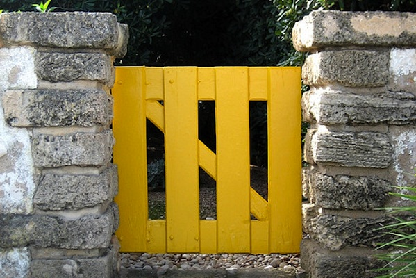 Yellow Garden Gate For Healing Garden