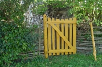 Yellow Healing Garden Gate