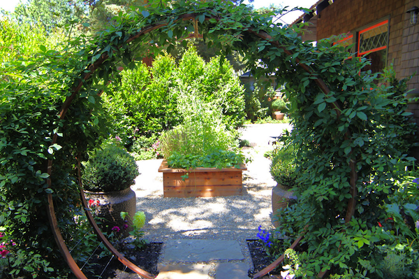 Breast Cancer Healing Moon Garden Gate