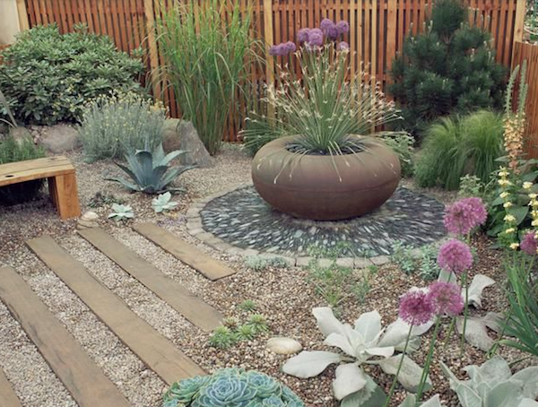 Focal Point For Breast Cancer Garden Path