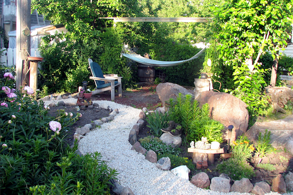 garden path for breast cancer healing garden
