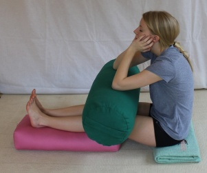 Staff Pose - Forward Bend Modified