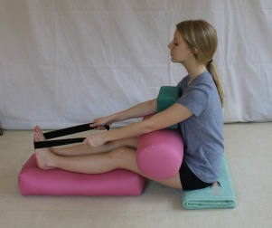 Staff Pose - Forward Bend With Strap