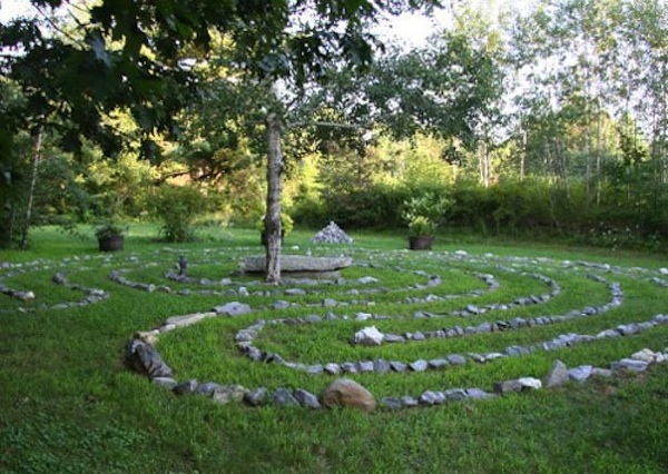 Backyard Garden Labyrinth For Breast Cancer Healing