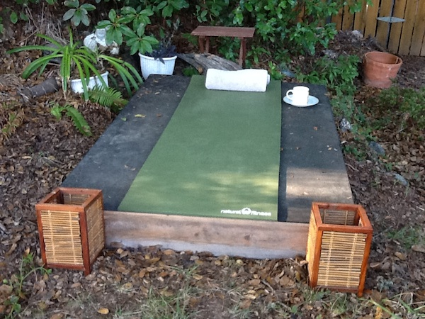 Yoga Deck For Breast Cancer Healing garden