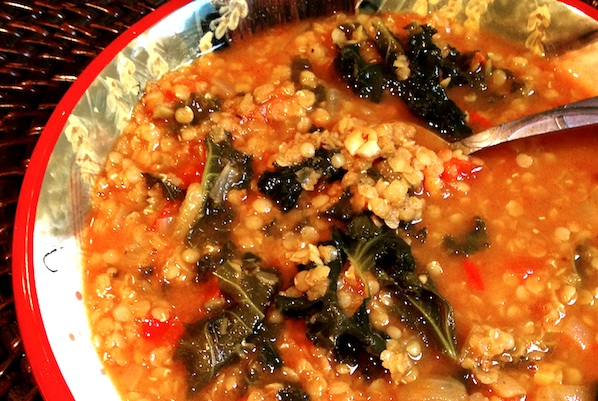 Coconut & Kale Soup For A Breast Cancer Diet