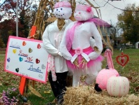 Man & Woman Scarecrow For Breast Cancer Awareness