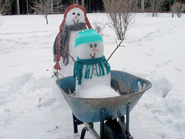 Breast Cancer Healing Backyard Snowman