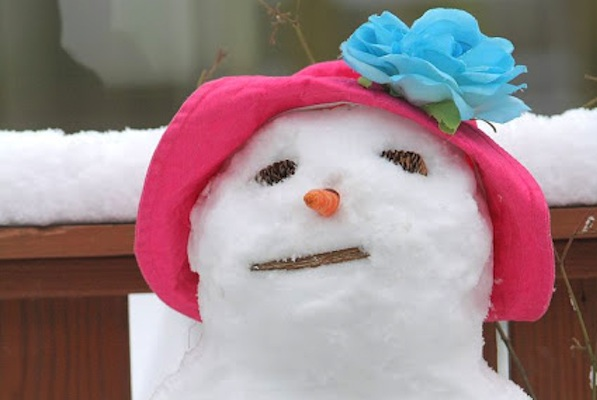 Snowman Hat For Breast Cancer Healing