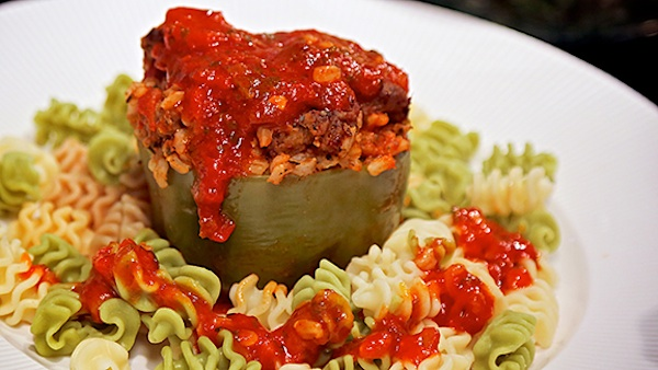 Vegan Stuffed Green Pepper Recipe For One