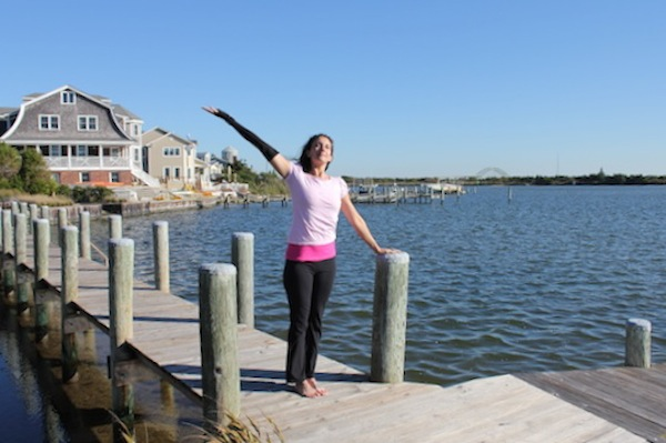 Palm Tree Standing Yoga Pose For Breast Cancer Related Lymphedema