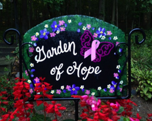 breast cancer healing outdoor gardens