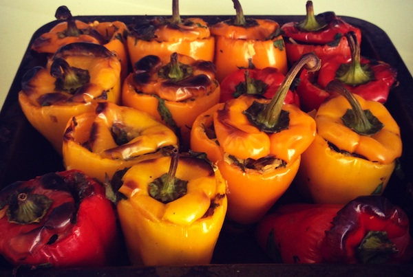 Stuffed Peppers for a breast cancer diet